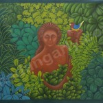 The Princess of Green Leaves - Oil on Canvas - 3' x 4'