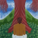 Under the Red Tree - Oil on Canvas - 3' x 4'
